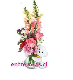 FLORERO Y PELUCHE CODIGO: NC109