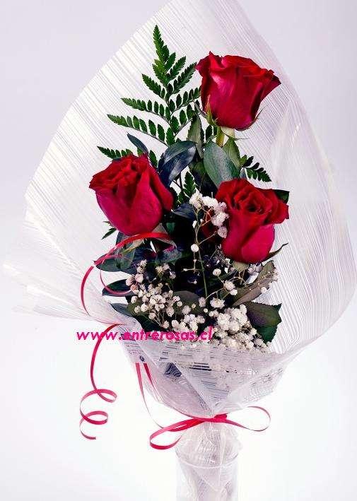 Ramo De Tres Rosas Importadas Fpe803