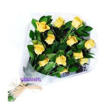 Ramo de 12Rosas Amarillas CODIGO: RR8112