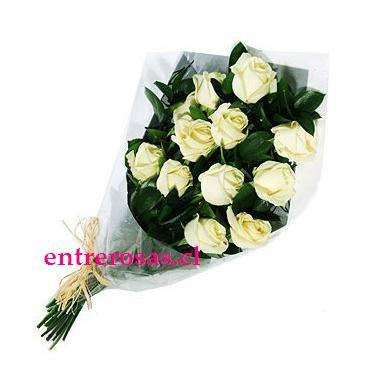 Ramo de 12 Rosas Blancas CODIGO: RR912